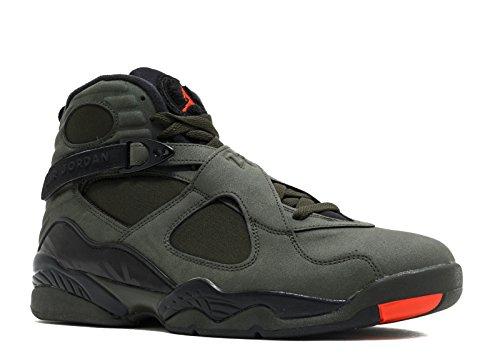 Jordan Luft 8 Retro Menns Basketball Sko Sequoia, Maks Oransje-svart