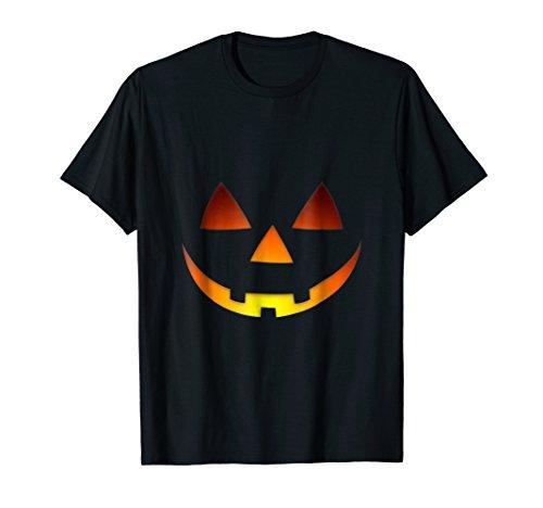 Happy Smiling Carved Pumpkin Jack-o-Lantern Halloween Shirt