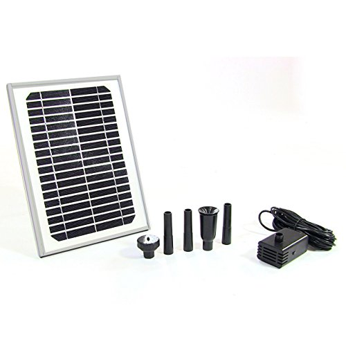Sunnydaze 5W Solar Pump and Panel Kit Outdoor Fountain Pond, 56 Inch - Amp Tube 5w Best