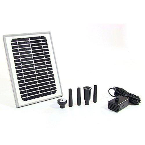 Sunnydaze Solar Pump and Panel Kit DIY Solar Fountain Pon...