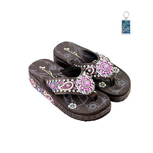 montana-west-175-paisley-wedge-flip-flop-sandals-pink-brown-keyring-10
