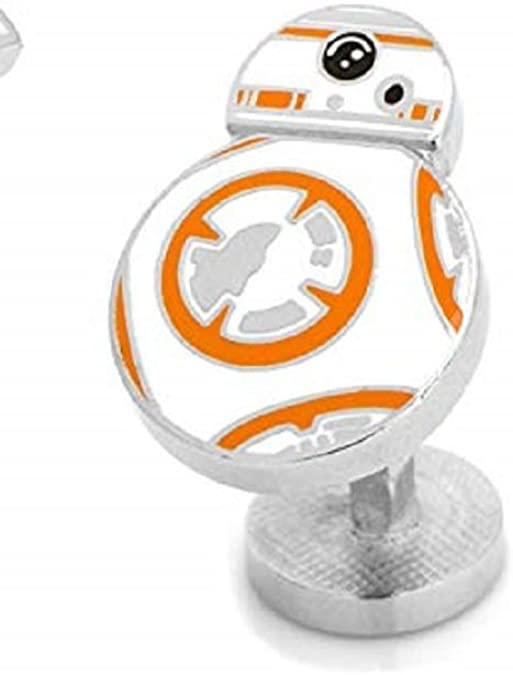 Star Wars BB-8 droid cufflinks in silver tone