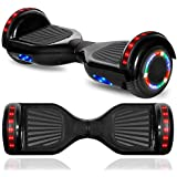 "CHO POWER SPORTS Hoverboard Electric Self Balancing Scooter 6.5"" Wheel with Built in Bluetooth Speaker LED Side Lights Kids Gift Safety Certified"