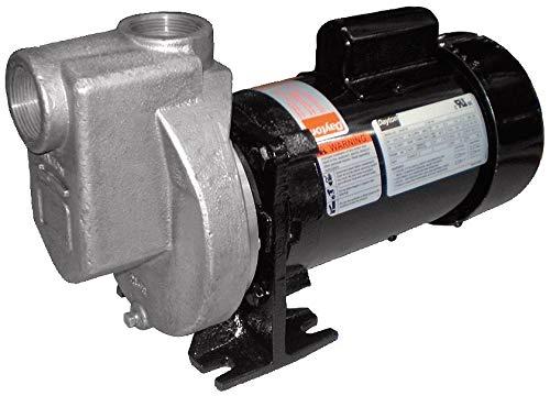 Dayton 1/2HP 316 Stainless Steel Centrifugal Pump, 1-1/2