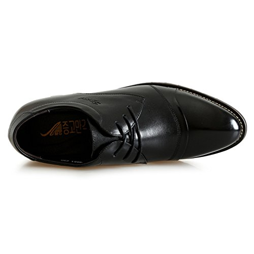Invisible Genuine 2 Derby Dress Business Shoes 56 Taller Leather inches Elevator Shoes Black Wedding wqqtXaSH
