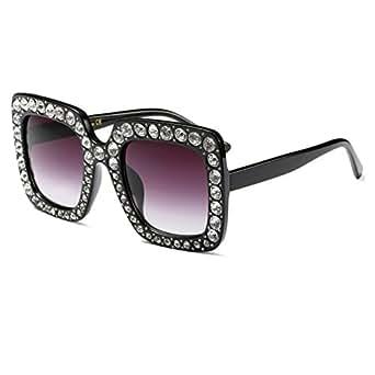 Amazon.com: Gafas de sol grandes para mujer con cristales y ...