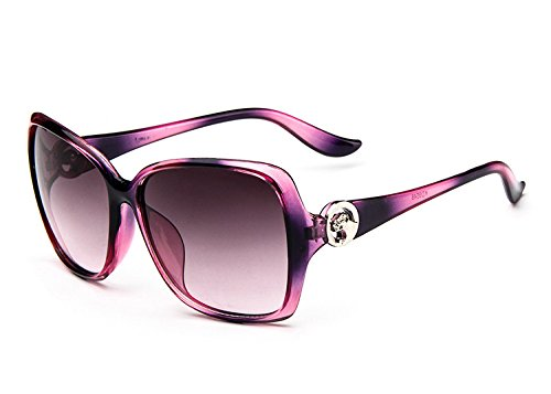Dot Purple Women'S Fashion Designer Sunglasses Retro Vintage Shades Oversized - 951 Sunglasses