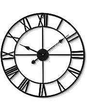 Outdoor Garden Wall Clock, Vintage Clock Indoor Outdoor, Patio Waterproof Oversized Decorative, for Patio Garden Bathroom Room Bedrooms Study Room Kitchen,50cm