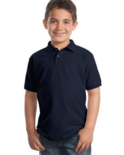 port-authority-youth-classic-polo-sports-shirt-navy-large