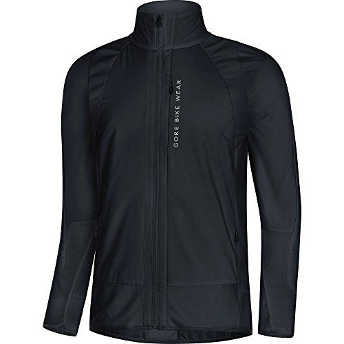 GORE BIKE WEAR Men's Mountain Bike Jacket, GORE WINDSTOPPER with PrimaLoft Insulation Protection, POWER TRAIL Jacket, Size: L, Black, JPOTRA by Gore Bike Wear