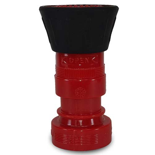 Heavy Duty Plastic 1 1/2'' Fire Nozzle (NH) with Large Durable Rubber Bumper - Red