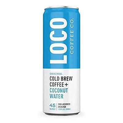 Loco Coffee (12 12 fl. oz. cans) | Cold Brew Coffee + Coconut Water | No Preservatives | No Added Sugar | Caffeine + Electrolytes