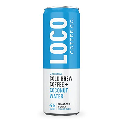 Cold Brew Coffee + Coconut Water (12 12 fl. oz. cans) | Loco Coffee | Gluten & Dairy Free | Clean Energy & Low Acidity | No Added Sugar | Caffeine + Electrolytes | No Refrigeration Required