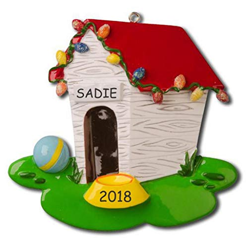 DIBSIES Personalization Station Personalized Pet Ornament (Dog (Dog House Ornament)