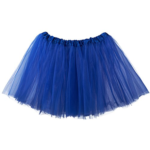 My Lello Adult Tutu Skirt, Classic Elastic 3 Layer Tulle Tutu for Women and Teens - Royal Blue for $<!--$6.59-->