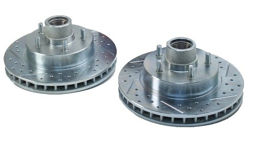 BAER 05516-020 Sport Rotors Slotted Drilled Zinc Plated Front Brake Rotor Set - Pair