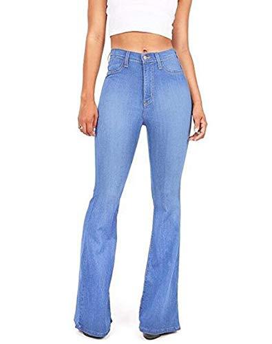 Adelgazamiento Multicolor De Jeans Las Ht Alta Huateng Adelgazantes Pantalones Y Cintura Mujeres Azul xqnC87f7