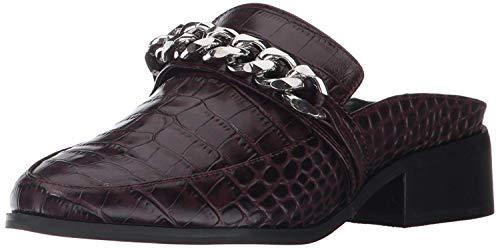 STEVEN by Steve Madden Women's Swanki Slip-On Loafer, Burgundy Crocodile, 8 M US