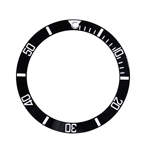 - Watch Writing Bezel Insert fits Seiko Date Display Ceramic Watch Wrist Replacement Parts(Black)