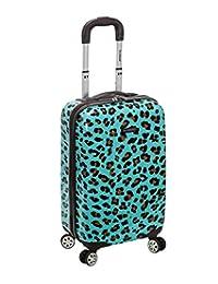Rockland Luggage 20 pulgadas Carry On Skin, Azul Leopard, Una talla