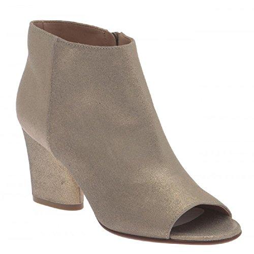 Maison Margiela Women's Champagne Leather Ankle Boots - Booties Shoes - Size: 9 - Margiela Boutique