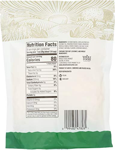 365 by Whole Foods Market, Plant-Based Cheese Shreds, Mozzarella, 8 Ounce 2