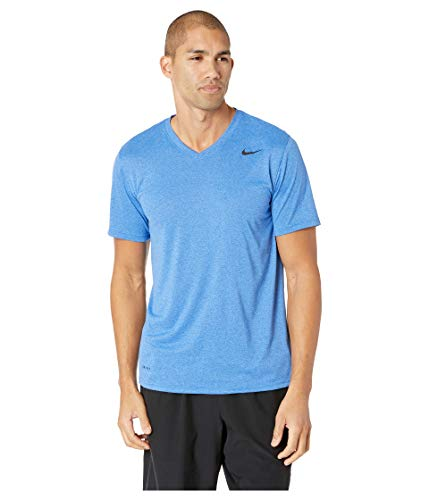 Nike Men's Legend 2.0 V-Neck T-Shirt (LT Game RYL HTR/Black, X-Large) (Nike Legend)
