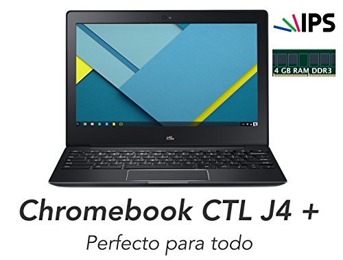 Chromebook CTL J4 + Quad Core ARM 1.8 GHz RK3288 - 4 GB DDR3L/16GB eMMC - LED 1366 x 768 IPS