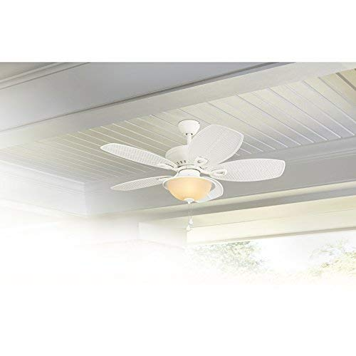 - Harbor Breeze Cedar Shoals 44-in White Downrod or Close Mount Indoor/Outdoor Ceiling Fan with Light Kit