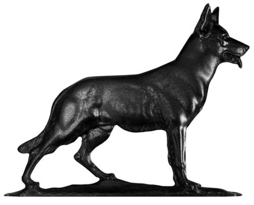 Weathervane Rooftop Black (Whitehall Products German Shephard Weathervane, 30-Inch, Rooftop Black)