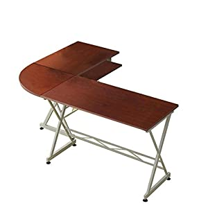 Solid Wood Laptop Computer Desk Corner PC Table Workstation Home Office Decor Furniture/ Brown #1038