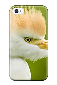 Khoarry Snap On Hard Case Cover White Bird With Orange Feathers On Head Protector For Iphone 4/4s