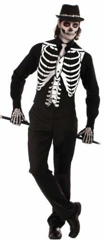 Forum Novelties Men's Skeleton Costume Vest, Black, One Size ()