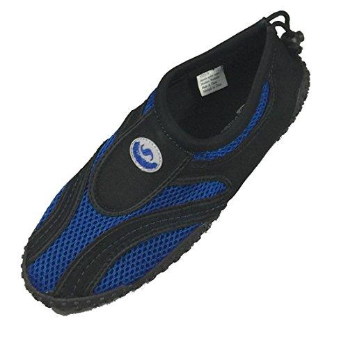 Scarpa Da Uomo Mens Wave Water Shoes Pool Beach Aqua Socks, Yoga, Esercizio Royal Blue