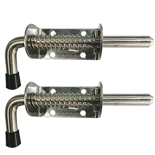 (Spring Loaded Latch Pin, Carriage Bolt, 304 Stainless Steel Barrel Bolt Thickened 2mm Door Lock)