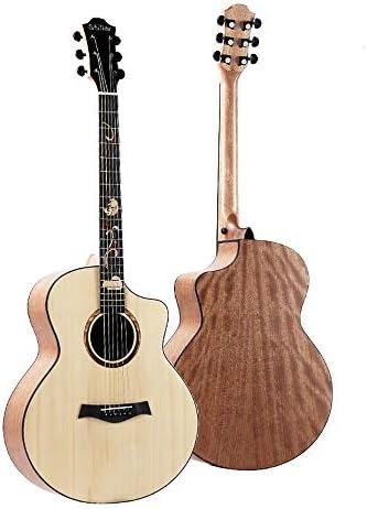 ミニアコースティックギター 41インチシングルボードアコースティックギタースプルースグラフィティ大人のアコースティックギターのための学生の子供大人 初心者 入門 (Color : C, Size : 41 inch)