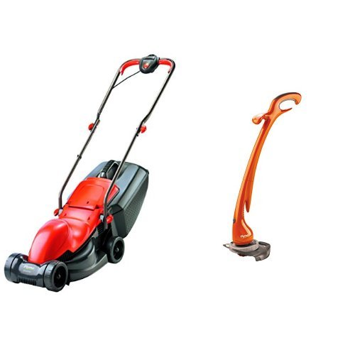 900W with Flymo Contour XT Electric Grass Trimmer and Edger 300 W Flymo Easimo Electric Wheeled Rotary Lawnmower