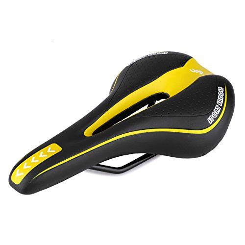 (Foir Bike Saddle Mountain Bike Seat Breathable Comfortable Bicycle Seat with Central Relief Zone and Ergonomics Design Fit for Road Bike and Mountain Bike)