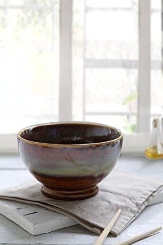 Store Indya Handmade Ceramic Bowl Dessert Salad Fruit Porcelain Pottery Serving Bowl Kitchen Dining Serve ware Accessory (Handmade Ceramics)