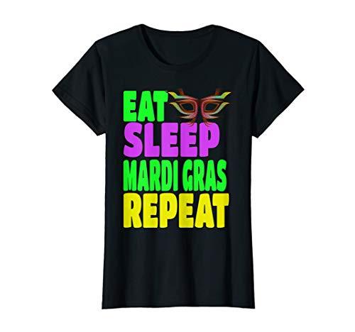 Mardi Gras Party Attire (Womens Mardi Gras Costume Plus-Size T-Shirt Gift Party)