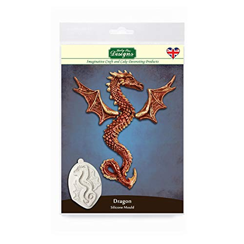 Katy Sue Serpent Dragon Silicone Mold for Cake Decorating, Cupcakes, Sugarcraft, Cookies, Crafts, Cards and Candies, Food Safe Approved, Made in The UK ()