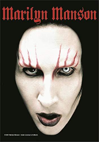 (Marilyn Manson Headshot Large Textile Poster 44