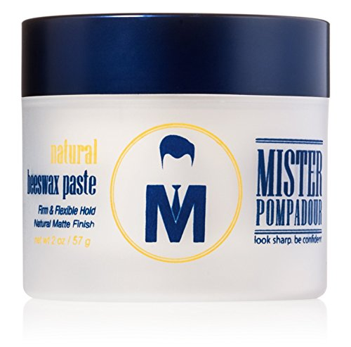 Mister Pompadour Natural Beeswax Paste | Matte Hair Product for Men &...