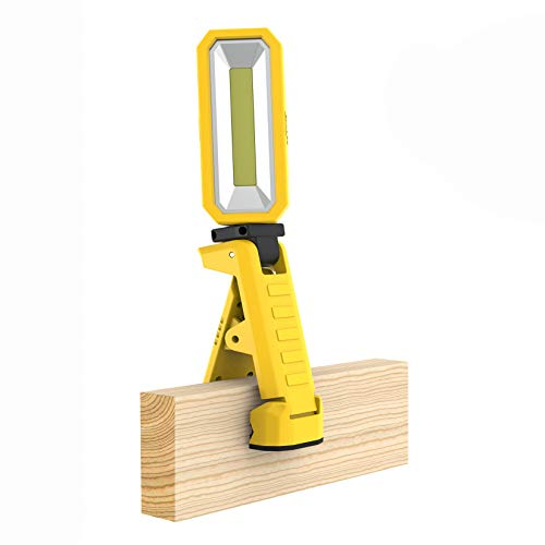 Caterpillar Clamping Hand Held Work Light Very Bright Lumen Output Clamps to Anything Up To Two Inches hands Free With Clamp, Magnet, And Hook Built In