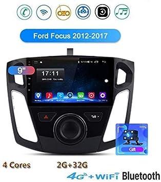 Android 8.1 de navegación GPS de la Radio, estéreo 9 Pantalla táctil TV para Ford Focus 2012-2017 con Llamadas Dab Control del Volante Bluetooth Manos Libres USB Espejo MP5 SWC + 4G + 32.: Amazon.es: Electrónica