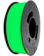 Winkle PLA-filament, 1,75 mm, filamentdruk, 3D-printer, 3D-filament, fluorescerend groen, spoel met 300 g