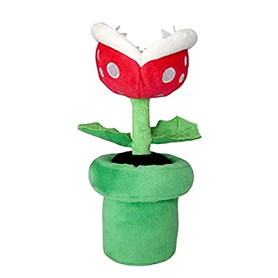 "Little Buddy Super Mario All Star Collection 1594 Piranha Plant Stuffed Plush, 9"": Toys & Games"