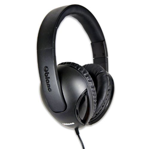 (Syba OG-AUD63038 NC-1 Cobra Over-Ear Headphones with In-line Microphone - Retail Packaging - Black)