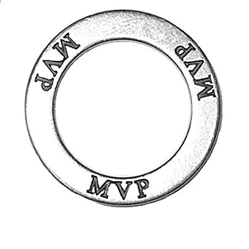 Affirmation 925 Silver Charm - 925 Sterling Silver Affirmation Circles Mvp Most Value Player Charm Pendant