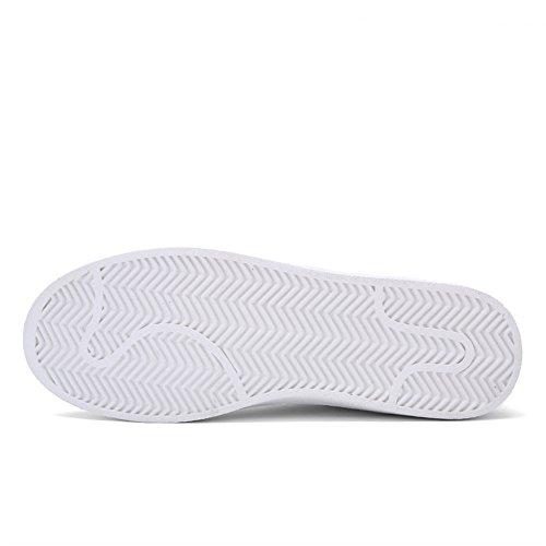 Leader Show Hombres Fashion Zapato De Skate Transpirable Casual Sport Lace Up Sneaker Blanco